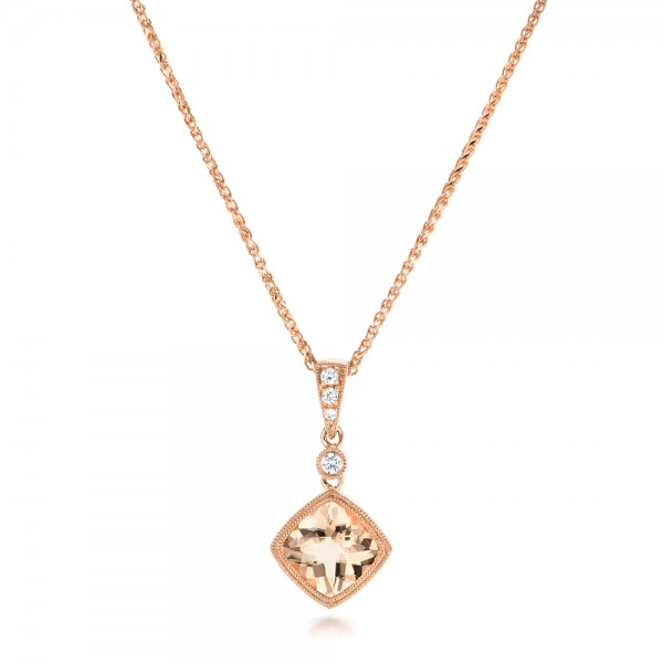 Morganite and Diamond Pendant