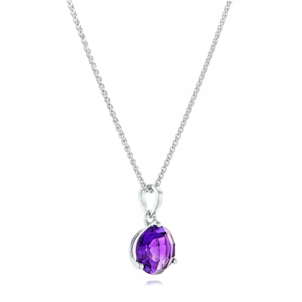 Amethyst Pendant - Laying View