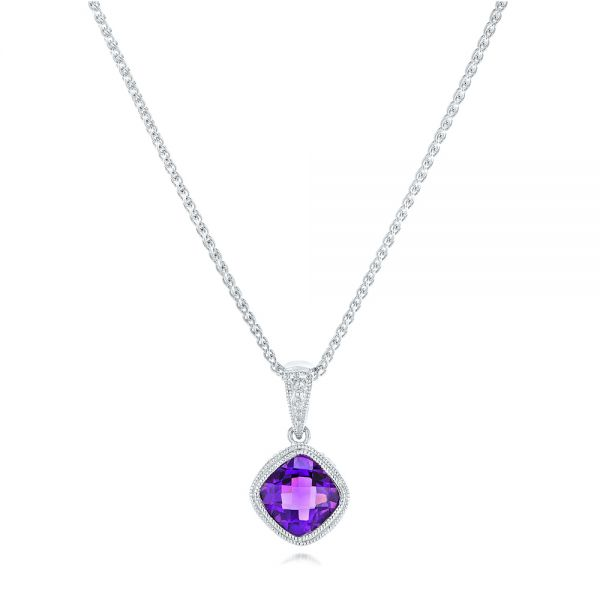 Amethyst Pendant - Three-Quarter View -