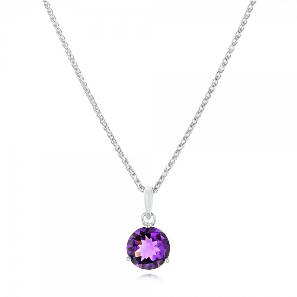 Amethyst and diamond pendant 102654 amethyst pendant mozeypictures Images