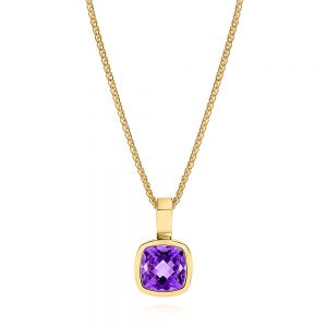 Amethyst Solitaire Pendant - Image