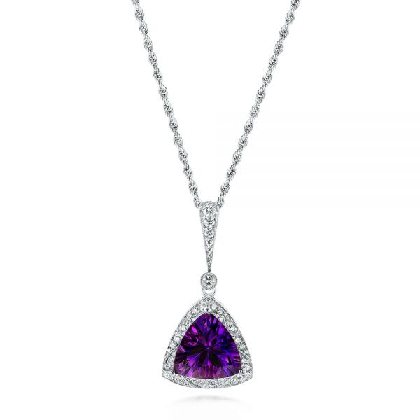 Amethyst and Diamond Pendant - Image