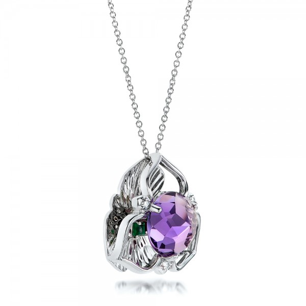 Amethyst and white gold pendant 101123 amethyst and white gold pendant mozeypictures Image collections