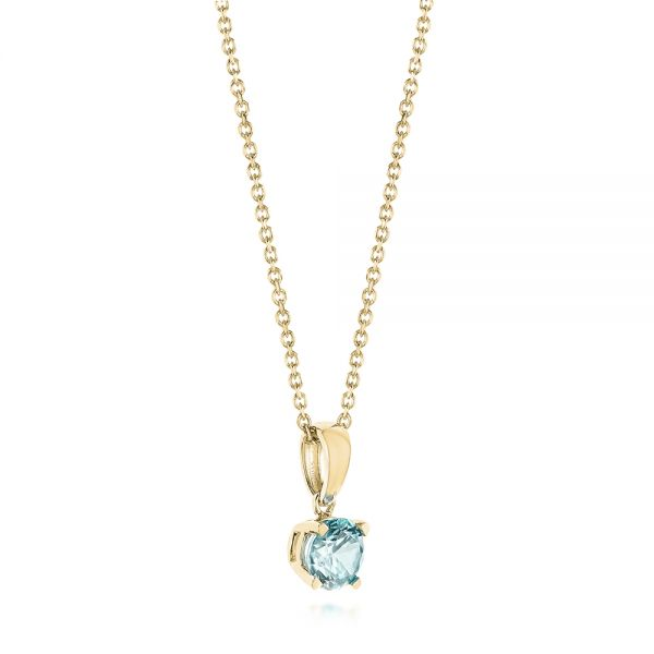 14k Yellow Gold 14k Yellow Gold Aquamarine Pendant - Front View -  103706