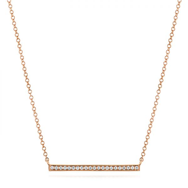 Bar Diamond Necklace - Image