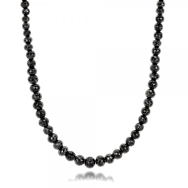Black Diamond Necklace - Flat View -  100849