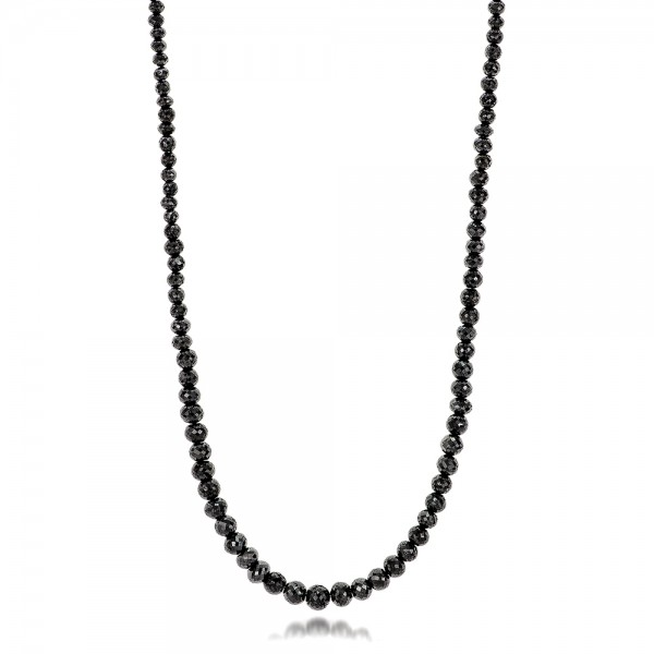 Black Diamond Necklace - Three-Quarter View -  100849