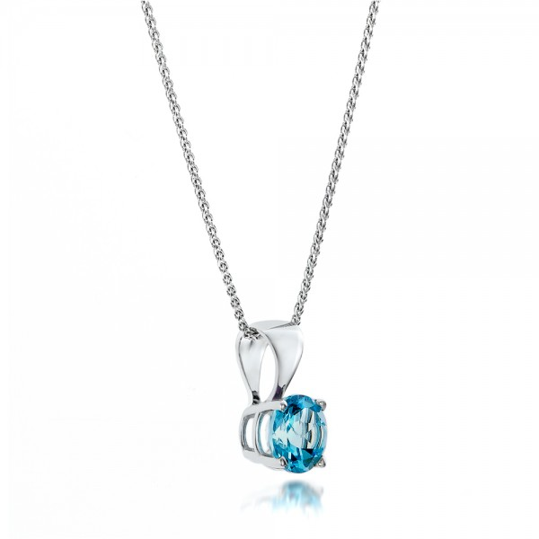 Blue Topaz Pendant - Laying View
