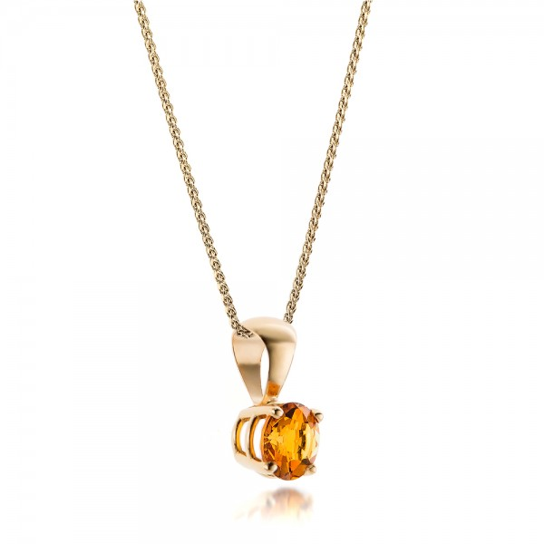Citrine Pendant - Laying View