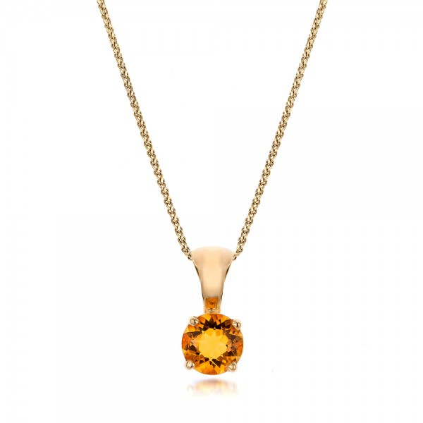 Citrine Pendant - Three-Quarter View -  100962 - Thumbnail