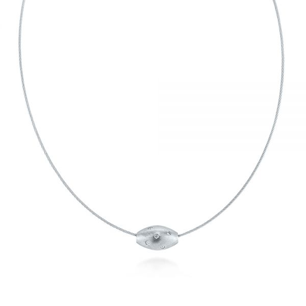 Cocoon Slide Diamond Necklace - Image