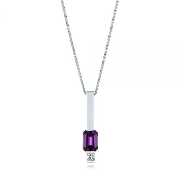 Custom Alexandrite and Diamond Pendant