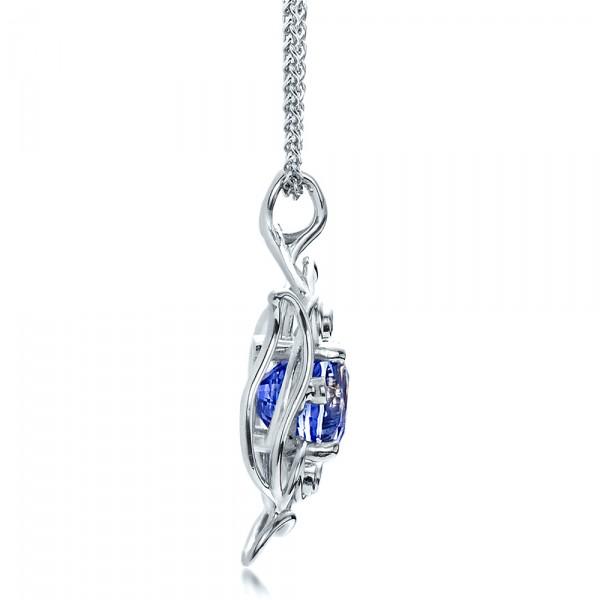 Custom blue sapphire pendant 1483 aloadofball Images