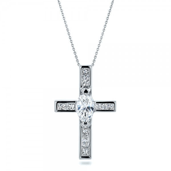 Custom Diamond Cross Pendant