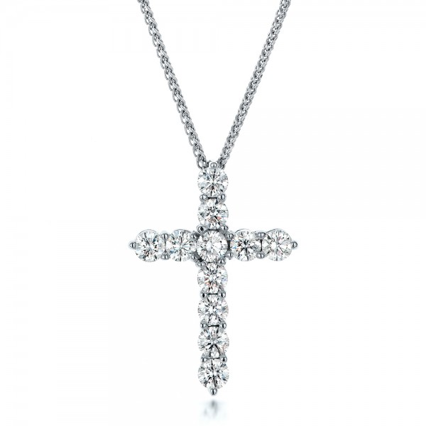 Custom diamond cross pendant 100868 for Starting a jewelry business in canada