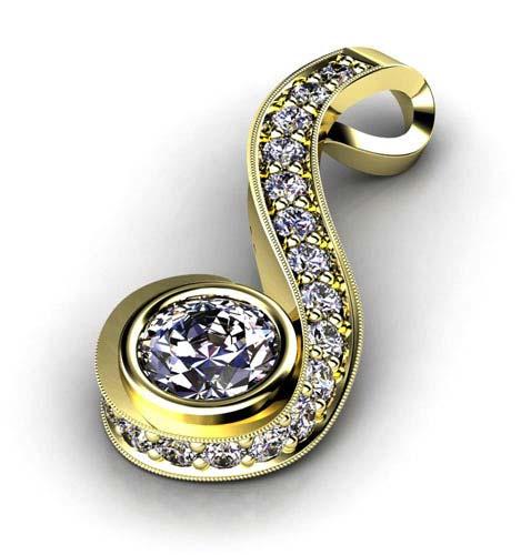 Custom diamond pendant 1028 bellevue seattle joseph jewelry aloadofball Gallery