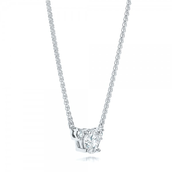 Custom Diamond Pendant - Laying View