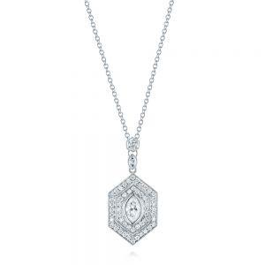 Diamond pendants hand made in bellevue and seattle joseph jewelry custom diamond pendant mozeypictures Choice Image