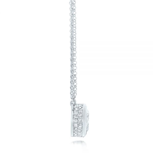 Custom Diamond Pendant - Side View -  103205 - Thumbnail