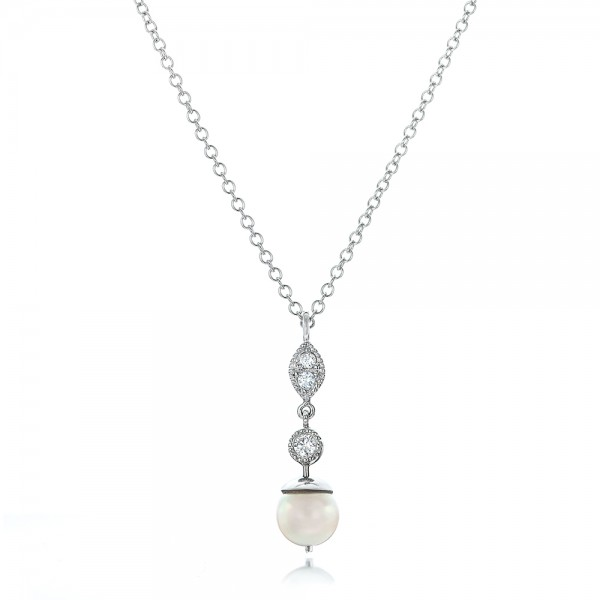Custom Diamond and Pearl Necklace