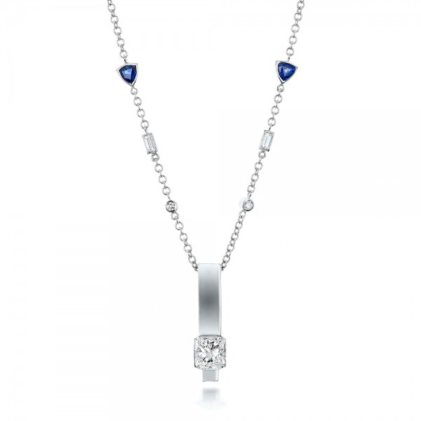 Custom Diamond and Tanzanite Pendant