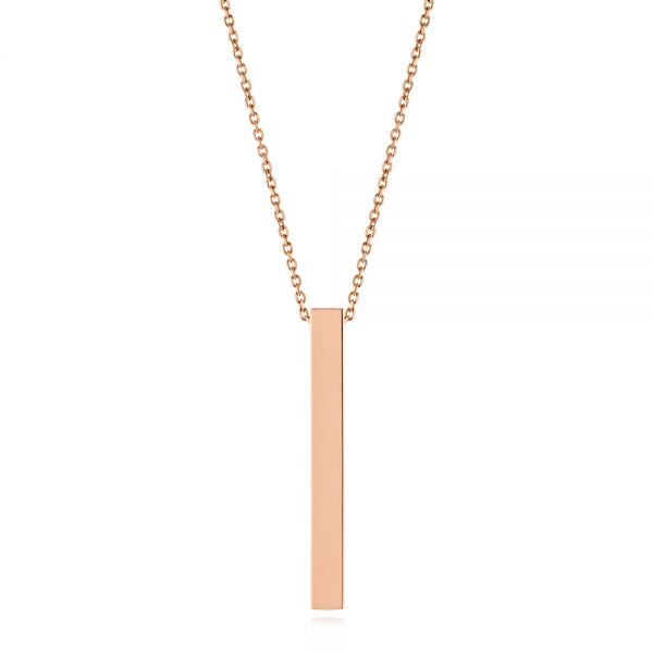 Custom Engravable Bar Necklace - Image