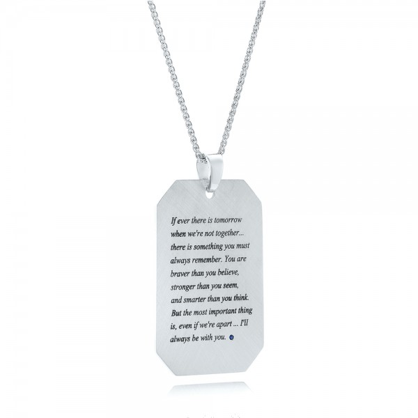 Custom Engraved Pendant - Laying View