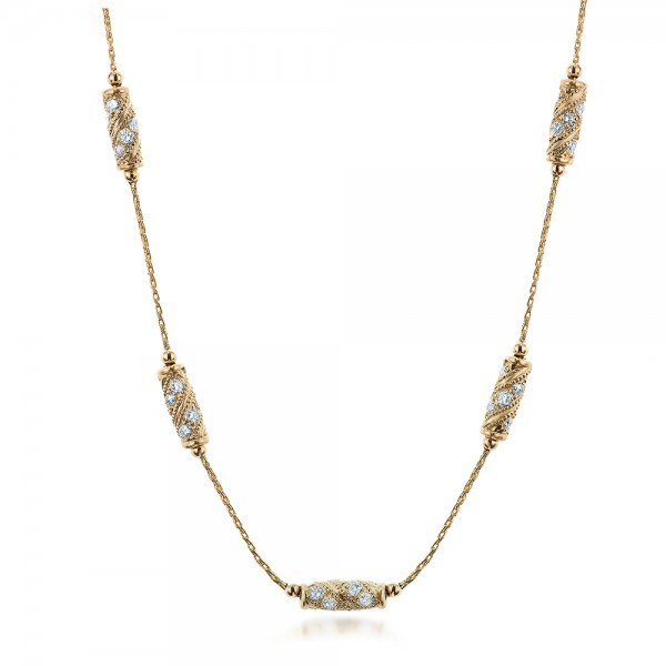 Custom Gold and Diamond Necklace