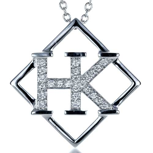 Custom Initials Diamond Pendant