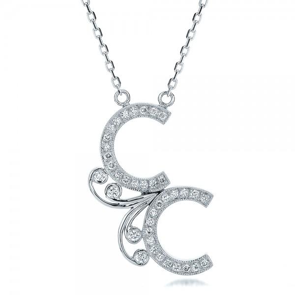 Custom Micro-Pave Diamond Initals Pendant