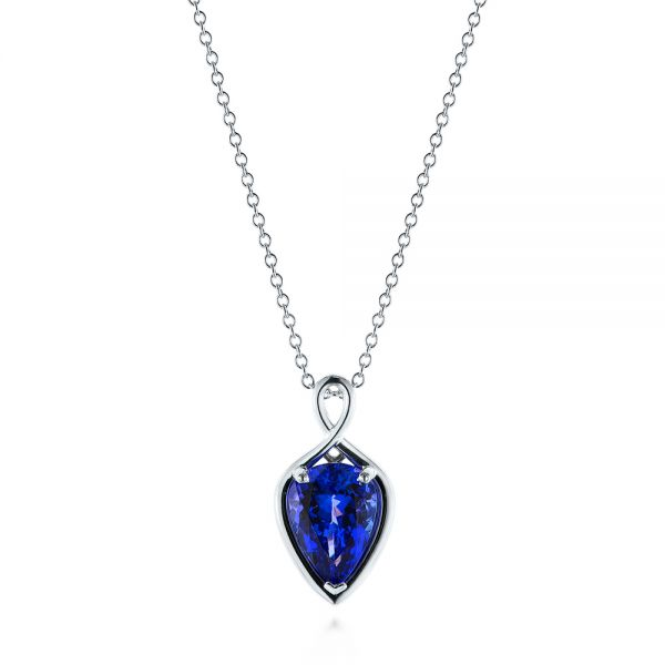 Custom Pear Tanzanite Pendant - Image