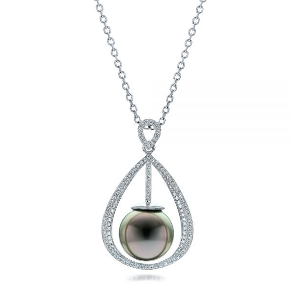 Custom Pearl and Diamond Pendant - Image