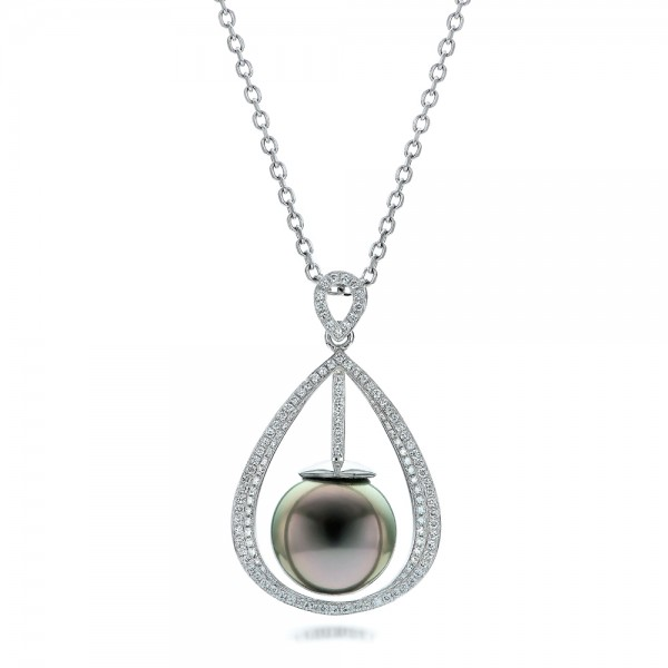 Custom Pearl and Diamond Pendant