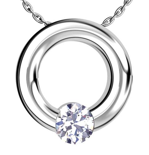 Custom Platinum Solitaire Pendant