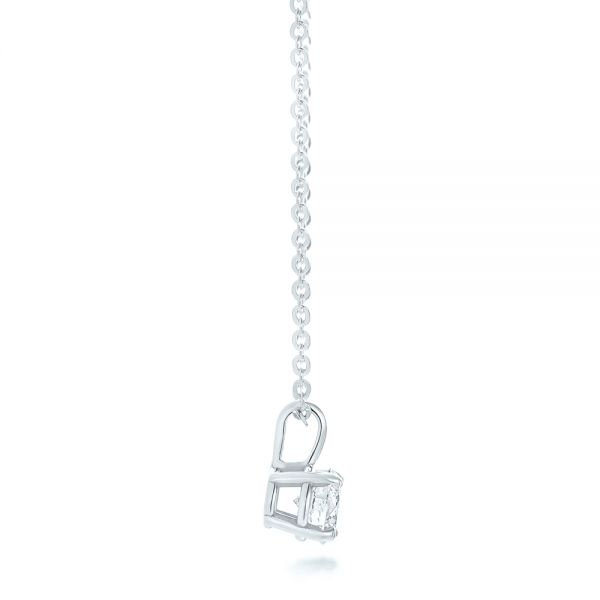 Platinum Platinum Custom Diamond Solitaire Pendant - Side View -
