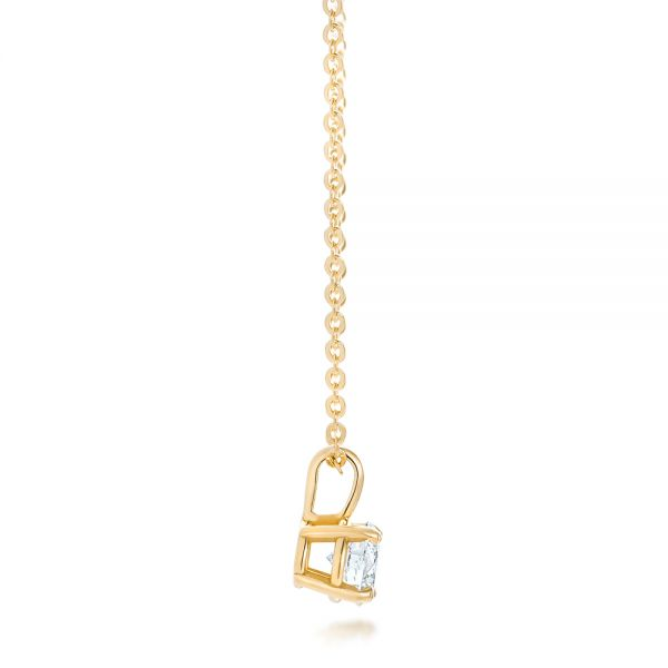 14k Yellow Gold 14k Yellow Gold Custom Diamond Solitaire Pendant - Side View -