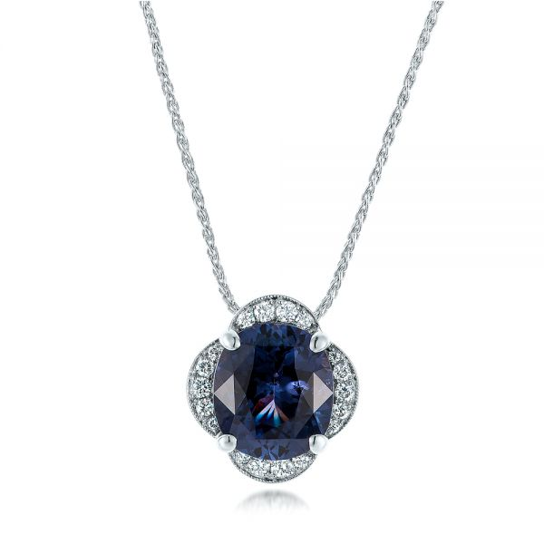 Custom Spinel and Diamond Pendant