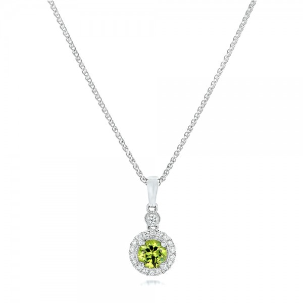 Demantoid and Diamond Pendant