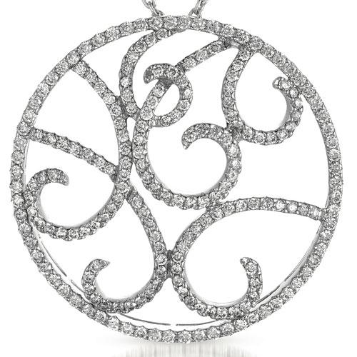 Diamond Filigree Pendant - Vanna K - Laying View