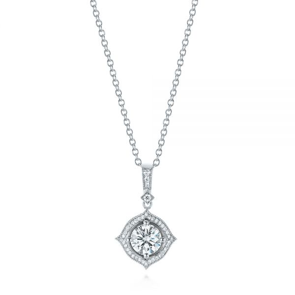 Diamond Halo Pendant - Image