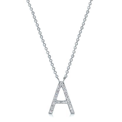 Diamond Letter Pendants - Side View