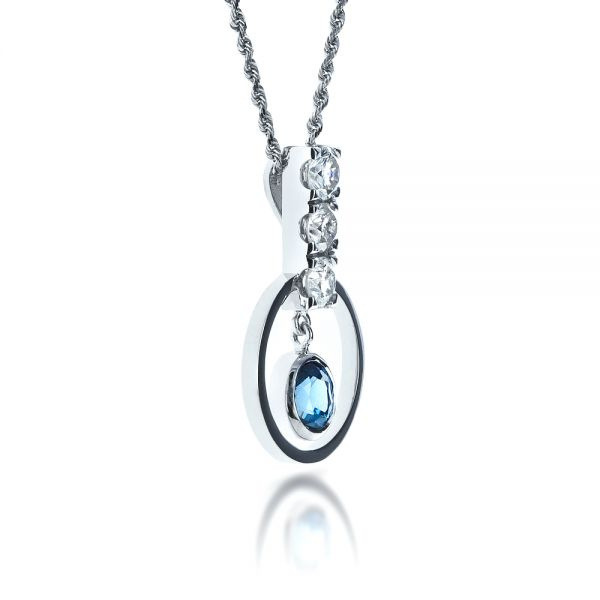 Diamond Pendant - Flat View -  1341 - Thumbnail