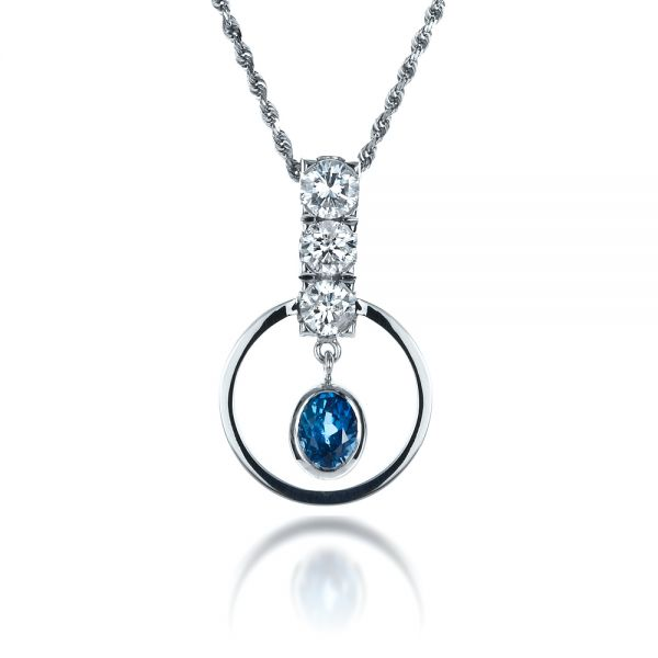 Diamond Pendant - Front View -  1341 - Thumbnail