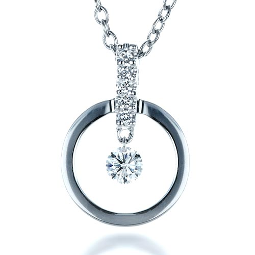 Diamond Pendant - Three-Quarter View -  1341 - Thumbnail