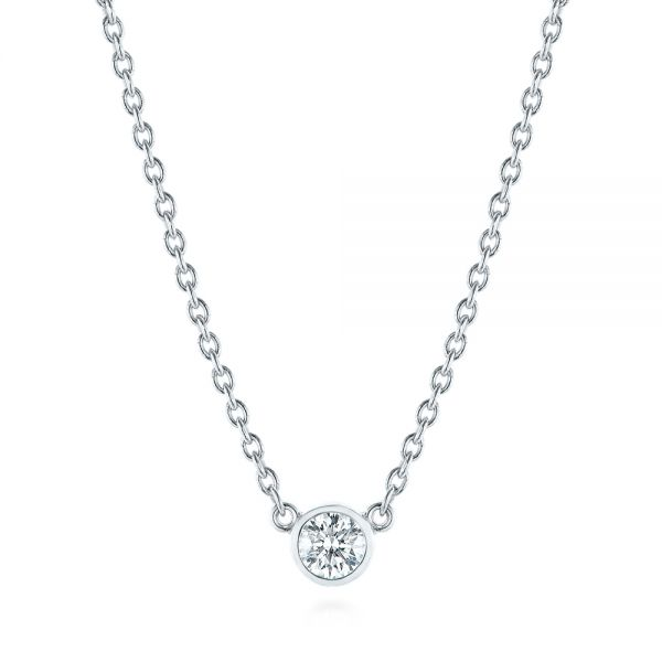 Diamond Solitaire Pendant - Three-Quarter View -