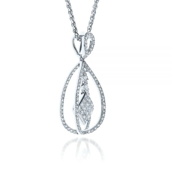 Diamond Split Drop Pendant - Flat View -  1325