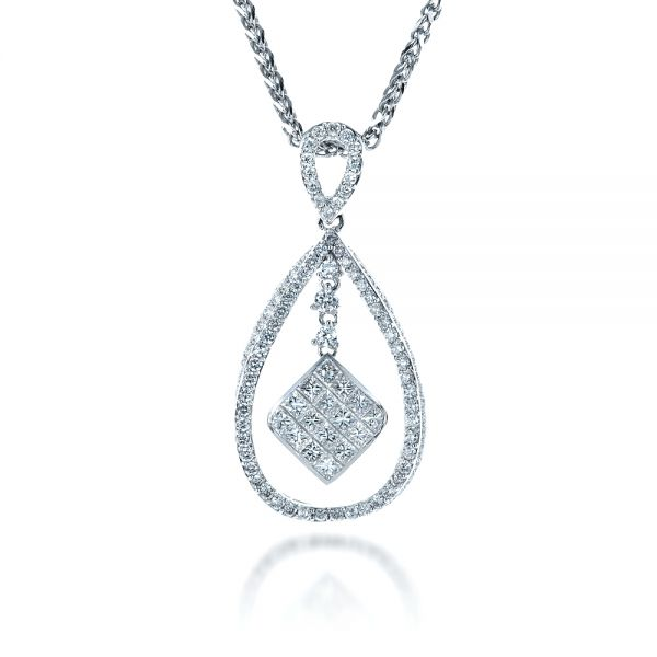 Diamond Split Drop Pendant - Front View -  1325