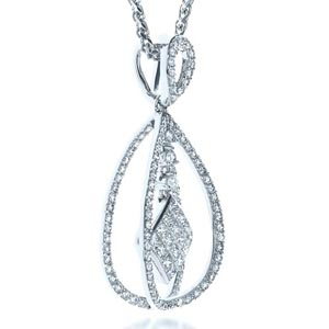 Diamond Split Drop Pendant