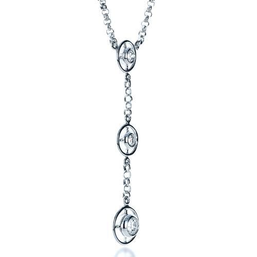 Diamond Triplet Pendant - 3/4 View