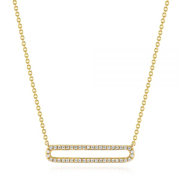 Geometric Diamond Necklace - Image
